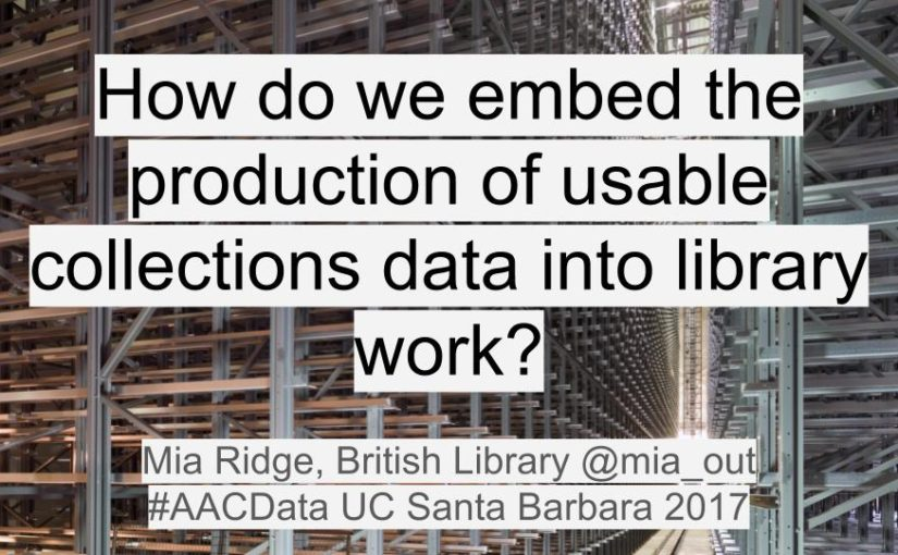 From piles of material to patchwork: How do we embed the production of usable collections data into library work?