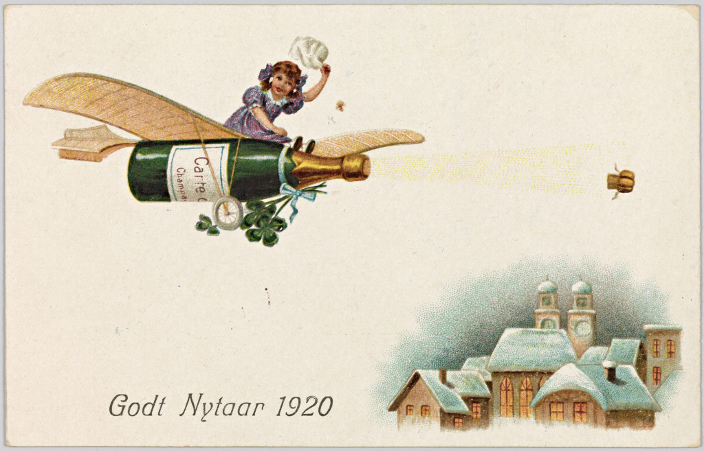 Drink your own champagne! (Nasjonalbiblioteket image)