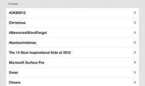 #ukmw12 trended over 'Christmas'
