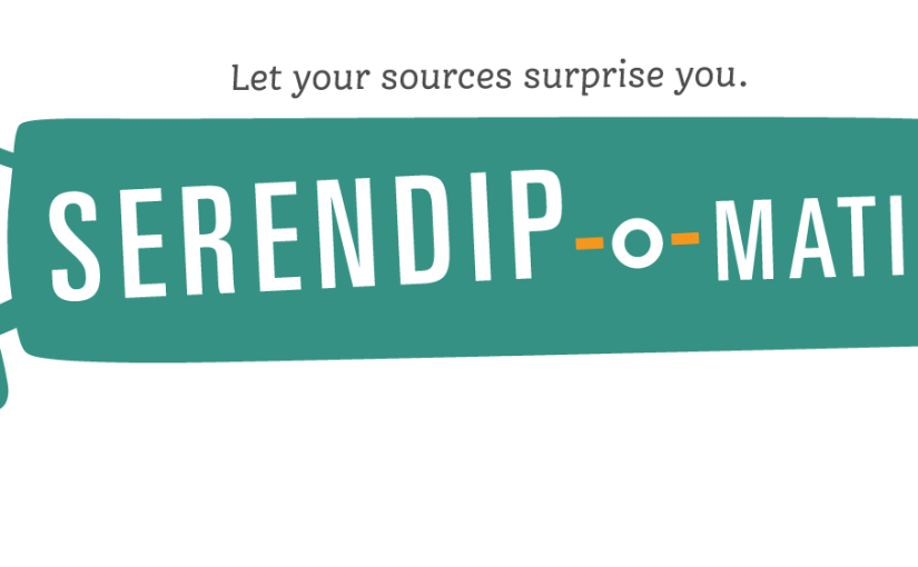So we made a thing. Announcing Serendip-o-matic at One Week, One Tool