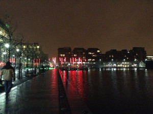 Grand Canal Dock at night, Dublin