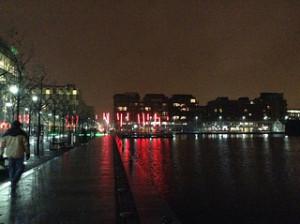 Grand Canal Dock at night, Dublin