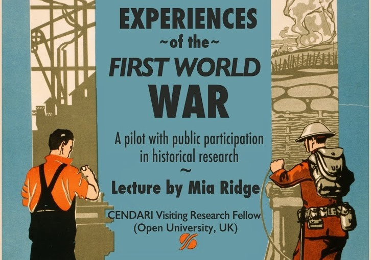 Three ways you can help with 'In their own words: collecting experiences of the First World War' (and a CENDARI project update)